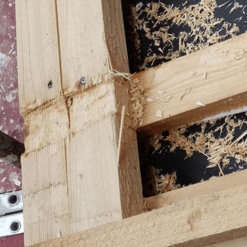 Mängel an Bauteilen aus Holz