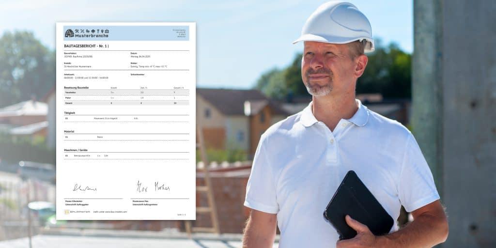 Baustellendokumentation direkt auf der Baustelle