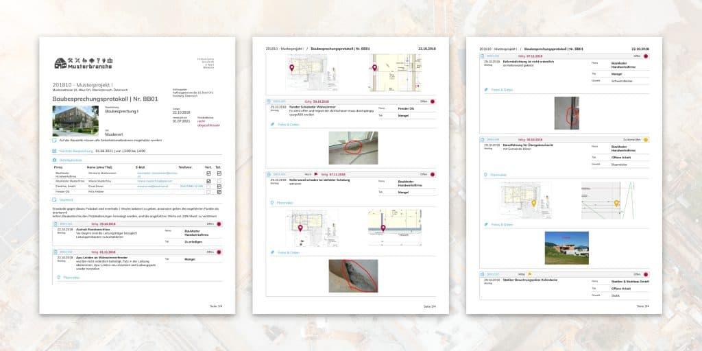 Baustellendokumentation mit BauMaster