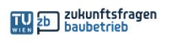 Logo TU Wien zukunftsfragen baubetrieb